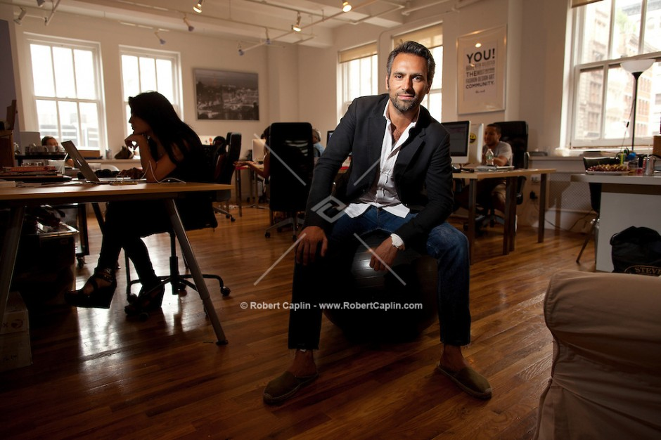 Olivier van Themsche, the swank french guy behind a new site called The Cools in his SoHo offices New York.   Photo by Robert Caplin